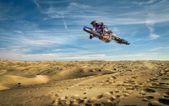 небо, мотоцикл, спорт