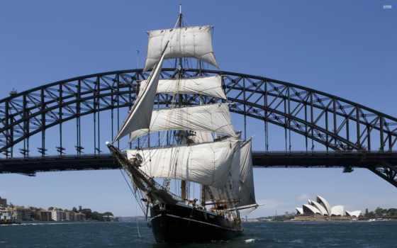 sydney, гавань, tall, корабль, ships, sail, you, ан, cruises