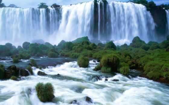 водопад, water, который