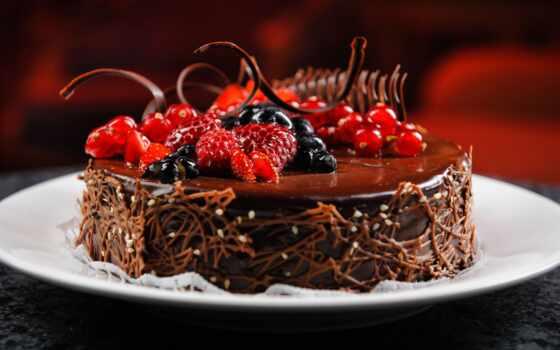 торт, chocolate, birthday