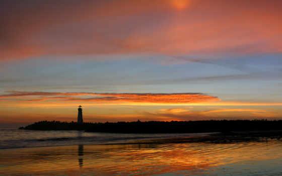 маяк, пейзажи -, landscape