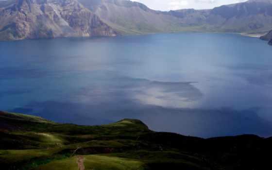 landscape, горы, озеро,