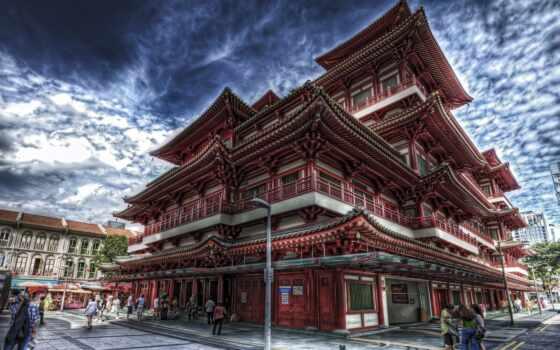 buddha, храм, зуб, singapore, relic, chinatown,