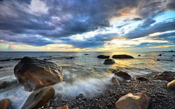 камни, landscape, море