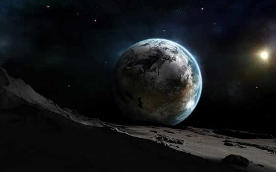 луна, взгляд, earth, космос, ночь, could, get,