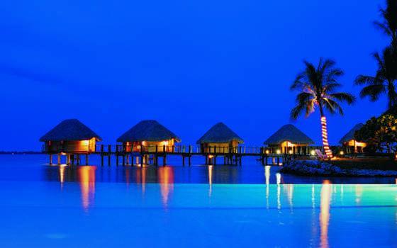острова, пляж, ocean, ночь, search, desktop, пальмы, full,