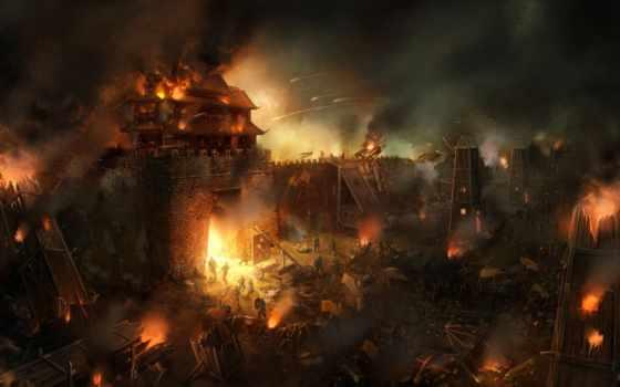 осадный, warfare, art, deviantart, digital, об, wanbao, изображение, weapons,