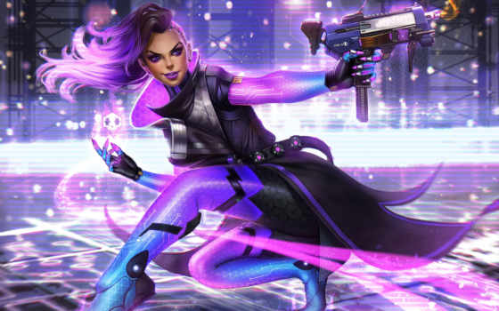 overwatch, sombra, blizzard, video, play, dvinter, игры, хакер,