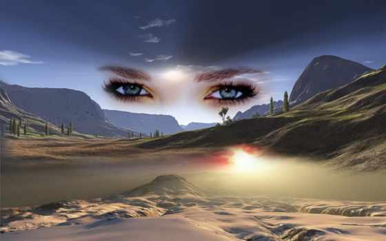 yeux, les, dans, ciel, amour, cœur, avec, qui,