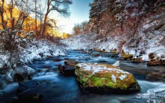 снег, картинка, весна
