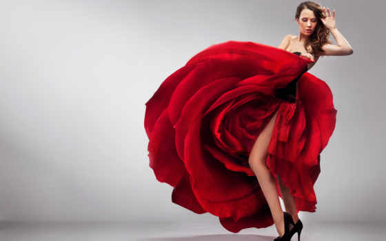 роза, платье, девушка