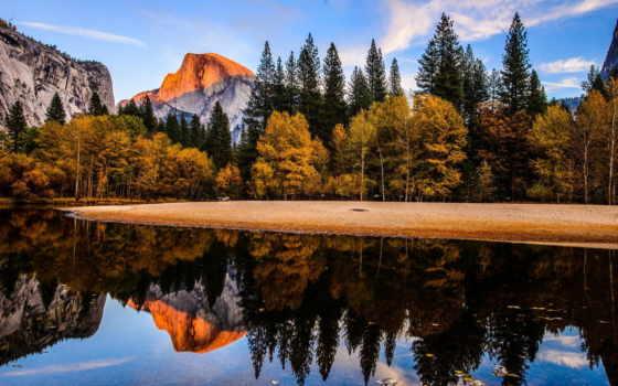 осень, гора, лес