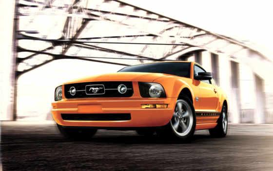 мощная, тачка, качества, mustang, машины, назад, красивые, ford,