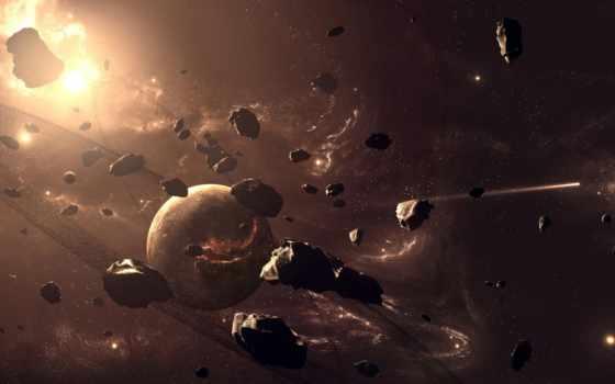 cosmos, астероиды, картинка, планеты, астероид,