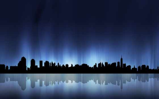 небо, город, города, мегаполиса, ночное, городе, визитка, water, отражение, olkhon,