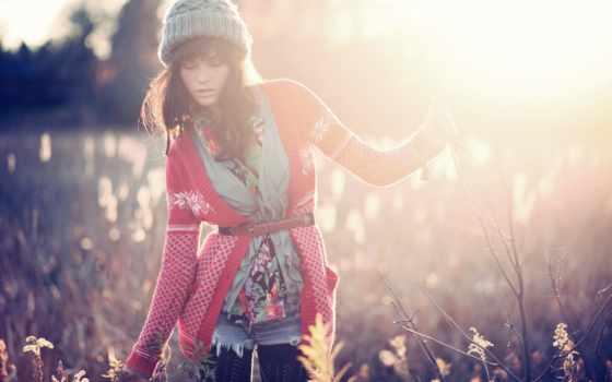 models, women, природа, season, brunettes, hats, winter, модель,