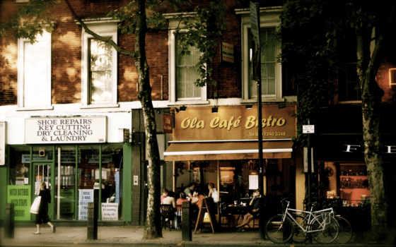london, великобритания, улица, город, кафе, свет, будка,