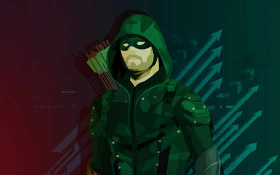 зелёный, стрелок, desktop