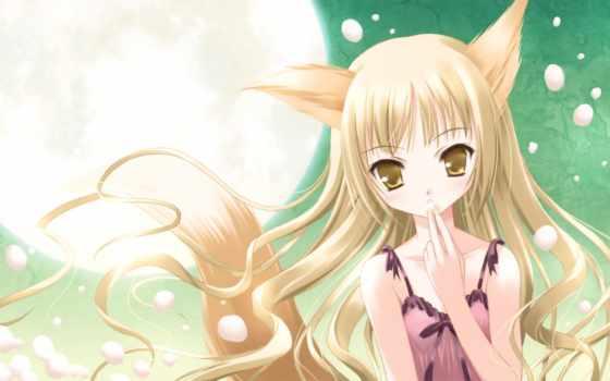 аниме, hair