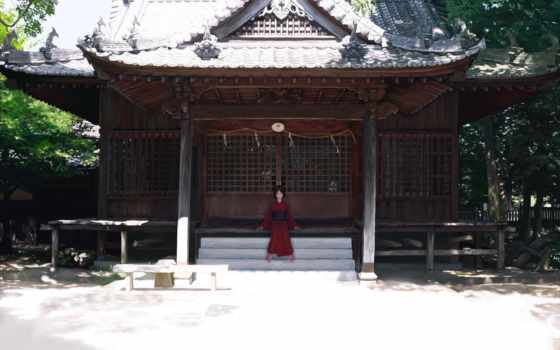 anime, юката, девушка, кимоно,