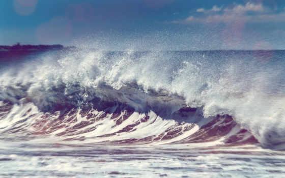 волна, морская, большая