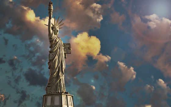 свободы, статуя, liberty, сочи, небо, oblaka, томск,
