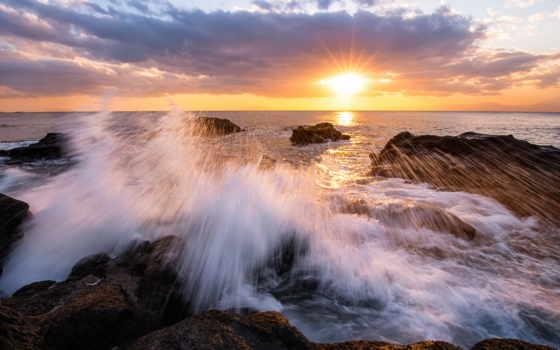 дениз, günəş, batımı, manzarası, plaj, doğa, duvar, tablo, kıyısı, canvas, resim,