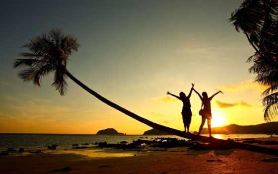 море, девушка, парень, мужчина, закат, настроения, женщина, радость, картинку, пляж, parents,