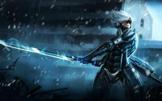 gear, металл, rising, raiden, revengeance, воин, доспех, игры,