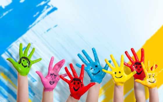 счастье, hands, children, colorful, desktop, девушка,