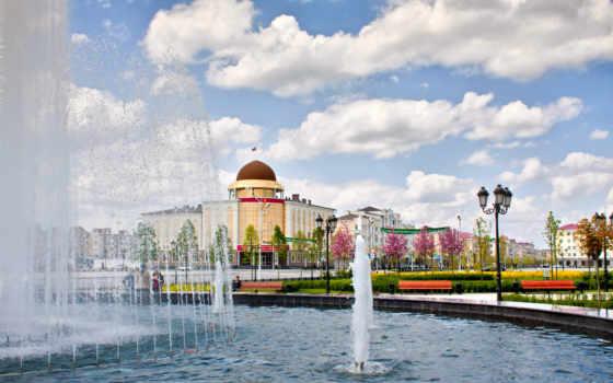 fountain, грозный, чечня, cvety,