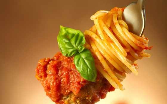 fork, ketchup, столовая, макароны, meat, зелёный, диета, питания,