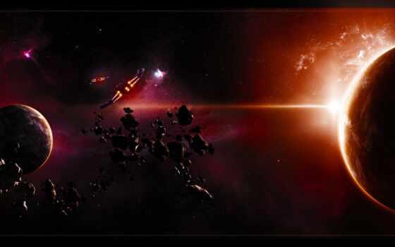 корабли, астероиды