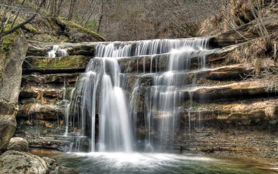 водопад, река Фон № 32190 разрешение 1920x1080