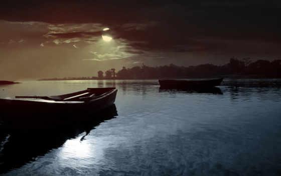 oblaka, sun, озеро