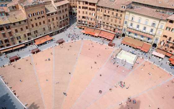 del, piazza, campo, italy, сиена, города,