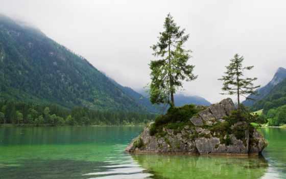 музыка, berchtesgaden, landscapes, excelent, озеро, лес, горы,