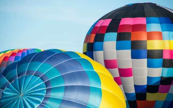 небо, colorful, мяч, balloon, aerial, спорт, aerostat,