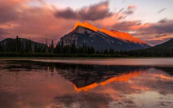 закат, гора, озеро, природа, добавить, пожаловаться, небо, rock