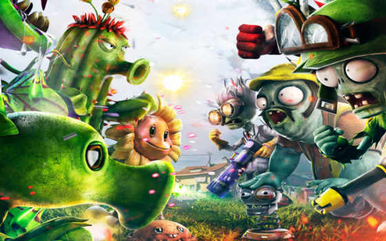 plants, zombies, warfare, garden, electronic, arts,