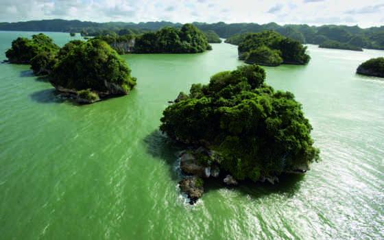 зелёный, water, mainland, острова, land,