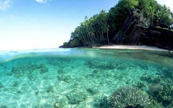 море, красивый, ocean, площадь, река, starve