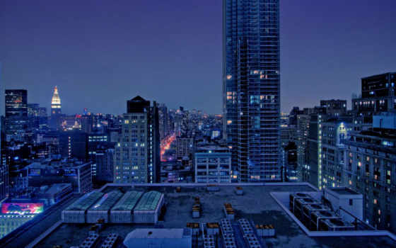 manhattan, city, night, new, york, dual, screen, similar, dawn, ipad,