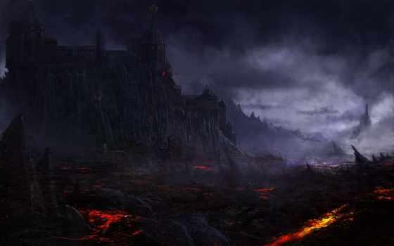 castle, dark, drawing, ад, добавить, del, anime, корзина,