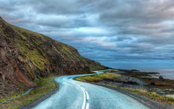 iceland, дорога, around, curvy, ipad, high, definition,