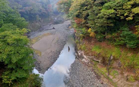 tapeta, japonia, hintergrundbild, sz, компьютера, pulpit, lub, пересохшая, река, японии,