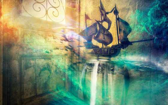 fantasy, tapety, żaglowiec, statek, które, корабль, pulpit, znajdziesz, stronie,