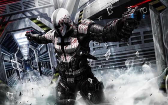 воин, sci, game, оружием, scifi, sf, world, epic,