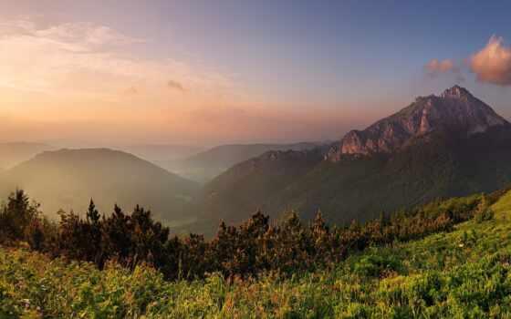 skinat, природа, панорама, гора, красивый, фотообои, фото, закат, город, картинка, качать