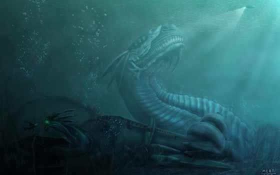 sea, terror, awakening, mertgurkan, deep,
